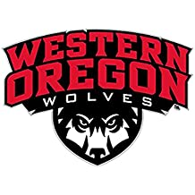 Western Oregon University Wolves Die-Cut Vinyl Decal Logo 1