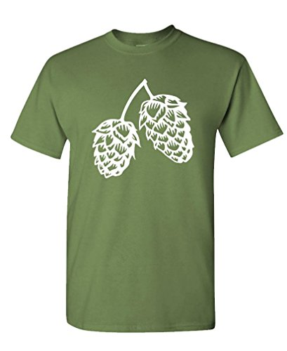 Pale Lager - HOPS - craft beer lager pale ale - Mens Cotton T-Shirt, L, Military