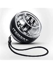 Polsbal, Mute Centrifugale Gyrobal, voor Vingergreep Krachtarmtrainer, Zwart, met Gekleurde Lichten