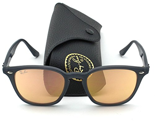 Ray-Ban RB4258 New Style Unisex Sunglasses (Opal Grey Lens/Orange mirror Lens 62307J, - Ban Ray Clubmaster Orange