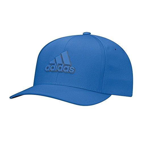 adidas 2017 Tour Delta Flex-Fit Textured Structured Hat Mens Stretch Golf Cap Blast Blue Small/Medium ()