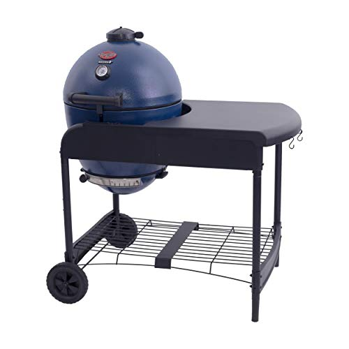 Char-Griller E56520 AKORN Cart Charcoal, Sapphire Blue Kamado Grill