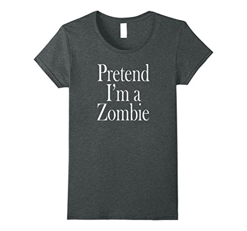 Womens Zombie Costume T-Shirt for the Last Minute Party XL Dark Heather