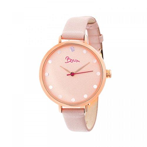 Boum Perle Quartz Light Pink Genuine Leather Rose Gold Women's Watch (Women Watches Boum)