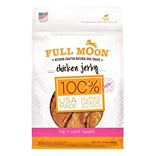 Full Moon All Natural Human Grade Dog Treats For Hip & Joint Health, Chicken Jerky, 12 Ounce