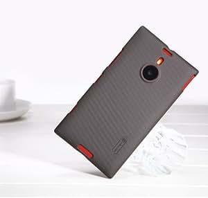Marrón Funda Case y Protector de Pantalla y Polvo Limpieza Film y Stylus Pen Para Nokia Lumia 1520 Nillkin NK10079