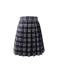 MRxcff-Junior Girls Uniforms Women Pleated Skirt School Students Skirts Uniform Plaids Skirt Female Skirts