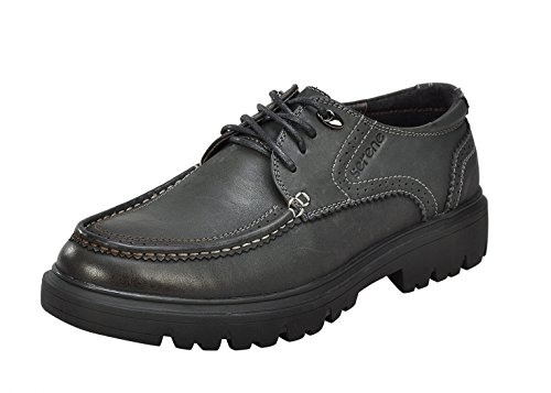 Serene Men's Leather Lace-Up Splice Durable Increaded Soft Toe Lace-Up Business Work Oxfords Shoes (9.5 (Walker Plain Toe Oxford)