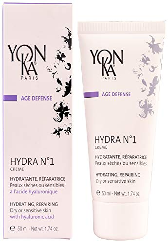 YON-KA AGE DEFENSE HYDRA NO. 1 Creme Hydratante & Reparatrice (1.7 Ounce / 50 Milliliter) - Hydrating & Repairing Cream for Dry and Sensitive Skin Types