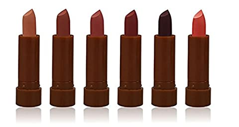 Gracefulvara Waterproof Matte Lipstick 6Pcs/Set, Orange,Brick Red, Pale Mauve...