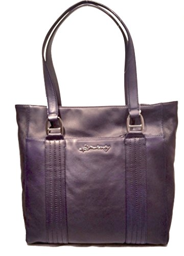 B Makowsky Quilted Leather Tote True Navy, used for sale  Delivered anywhere in USA