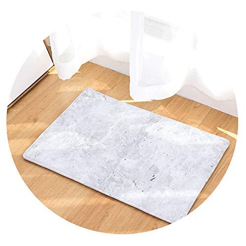 Marble Stripe Printed Anti-Slip Coral Fleece Door Mat Carpet Rug Use for Home Living Room Kitchen Bathroom Bedroom Floor 2 Sizes,12,About 40 X 60 cm