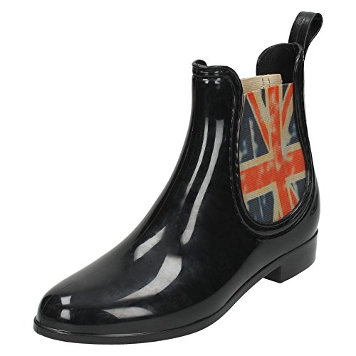 7 Size On British Gusset 5 Synthetic Black Flag US EU Boots UK 38 Womens Size Size Spot RawqExd7R