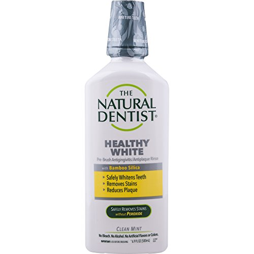The Natural Dentist Healthy White Pre-Brush Mouth Wash, Clean Mint, 16.9 Ounce Bottle