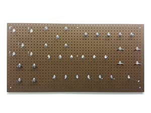 Triton Products TPB-36FFP Tempered Wood Pegboard 24-Inch x 48-Inch x 1/4-Inch with 36 piece Locking Hook Assortment