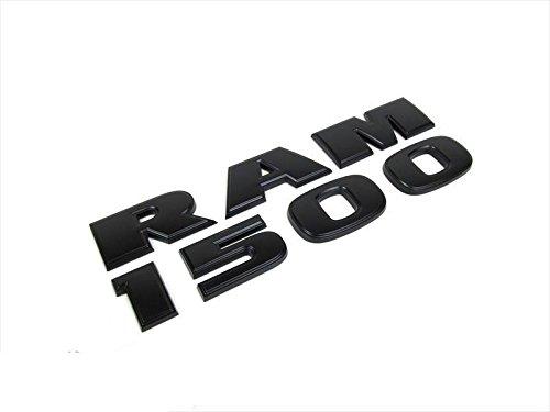 Exotic Store Brand New Pair of 2 Fit for Dodge Ram 1500 Black Trunk Fender Emblem Badges Lettering Nameplate Emblems