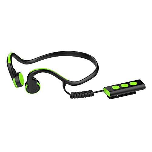 Yuqoka Bone Conduction Headphones Sweatproof Waterproof Wireless Headset Stereo Noise
