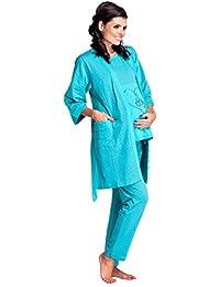 Zeta Ville - Womens Maternity Breastfeeding Pyjamas Robe Set Hospital - 227c