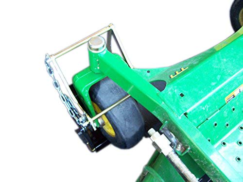 Jungle Jim's Accessory Products Mower Holder Large/Spreader Holder. Secure Caster Tire of a Lawn Mower and/or Spreader, Locking Capabilities