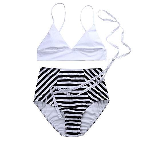 Vazan - del merletto delle donne a strisce del bikini Beachwear costume da bagno push-up spiaggia dello Swimwear Suit maillot de bain femme [M]