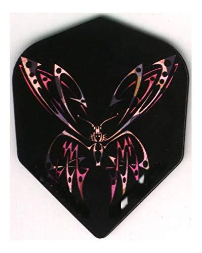 Purple and Pink Butterfly Dart Flights: 3 per Set (Purple Butterfly Dart Flights)