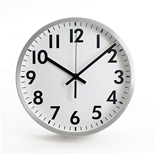 Comodo Casa Products Retro White Wall Clock with Metal Frame, Silent Non-Ticking- 10 Inch Quality