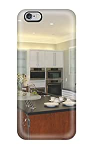 Defender Case With Nice Appearance (contemporary Kitchen With Island Featuring Floating Countertop) For Iphone 6 Plus