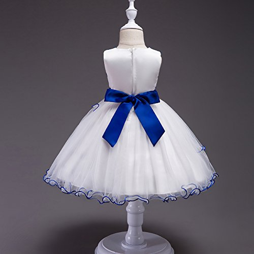 Agogo Ballon D'honneur Court Tulle 134 Taille 128 Fille Bleu Floral Et Paillettes 116 Bal Dentelle 140 Demoiselle 152 De Promo Robe Princesse Soir 164 Fête 104 Fleur r5xrOB6nq