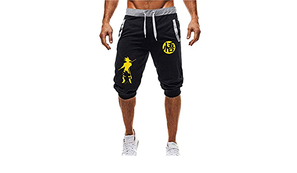 Dragon Ball Goku Casual Pantalones Deportivos con cord/ón Pantalones Cortos para Hombre Pantalones Deportivos Jogger Shorts de Playa