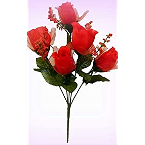 Inna-Wholesale Art Crafts New 60 Red Roses Silk Bouquet Decorating Flowers Bridal Centerpieces Artificial Buds - Perfect for Any Wedding, Special Occasion or Home Office D?cor 107