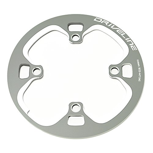 Driveline 44T Bash Guard, Chainring Guard, Chain Cover, BCD104mm CNC (gray) by Driveline (Image #2)