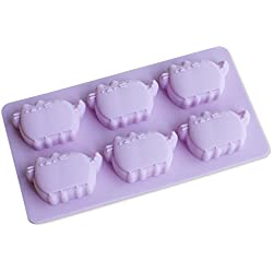 Hangnuo 6-Cats Silicone Mold for Chocolate, Candies, Ice Cubes and Crayon Melts