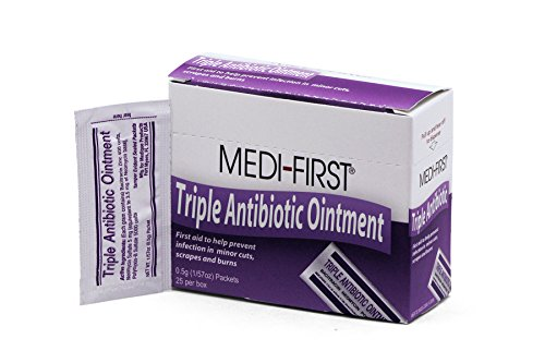Strength First Aid Antibiotic Ointment - Medique Products 22373 Triple Antibiotic Ointment.5 Gram, 25 Per Box