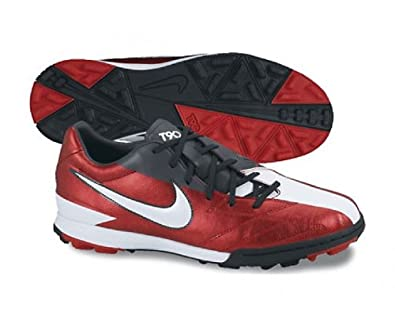 wholesale dealer 4b666 61eac NIKE T90 Shoot IV TF Men s Football Boots, Red White Black, UK12