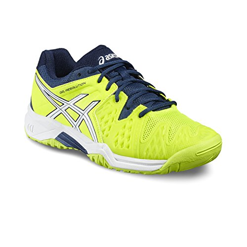 Asics Gel-Resolution 6 GS Junior Zapatilla De Tenis - AW16 - 0701 SAFETY YELLOW/WHITE/POSEI