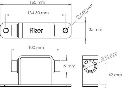 Filzer Fork Truck Mount 15 x 100 mm TM-15x100