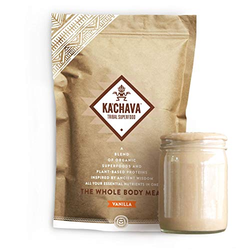 Ka'Chava Meal Replacement Shake - A Blend of Organic Superfoods and Plant-Based Protein - The Ultimate All-In-One Whole Body Meal. (Vanilla) 900g Bag = 15 foods (60g serving dimension)