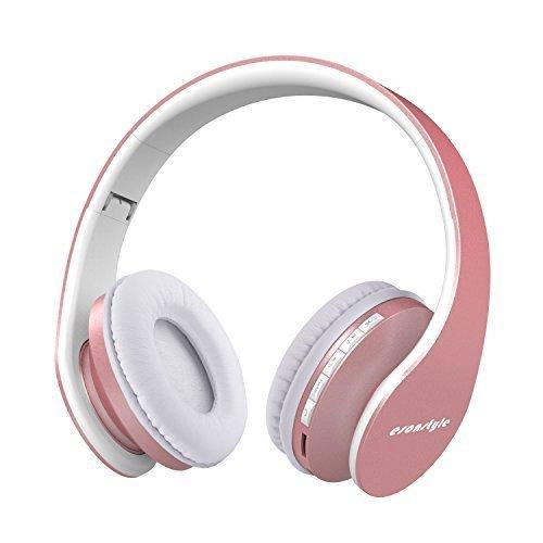 esonstyle plegable Wireless Bluetooth Over-ear Auriculares estéreo Auriculares, Audio Estéreo con función de manos libres...