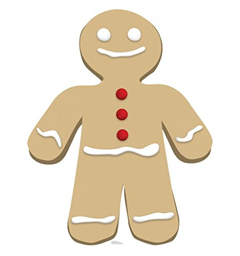Gingerbread Man Decorations - Gingerbread Man - Advanced Graphics Life Size Cardboard Standup