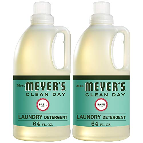 Mrs. Meyer's Laundry Detergent, Basil, 64 fl oz (2 ct)