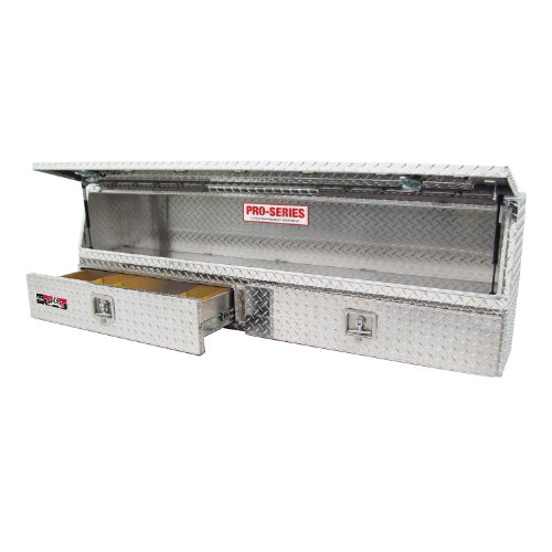 "Brute 80-TBS200-90D-BD Pro Series 90"" Contractor TopSider Polished Aluminum Tool Box with Doors & Drawers"