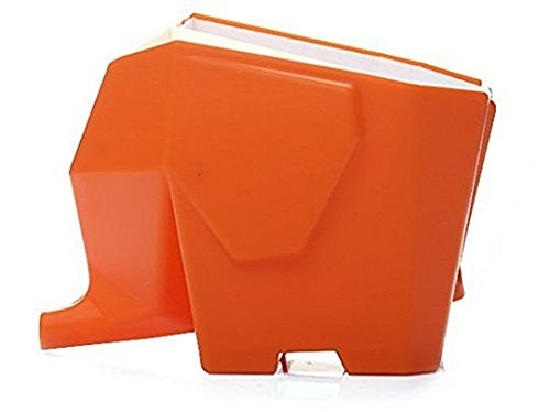 Agile-Shop Cute Elephant Design Plastic Cutlery Drainer Storage Holder Box for Home Kitchen, Bathroom, Toothbrush, Small Knife Accessories (Orange)