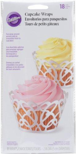 Wilton 415-0182 Wilton Pearl Swirl Cupcake Wraps, 18-Pack
