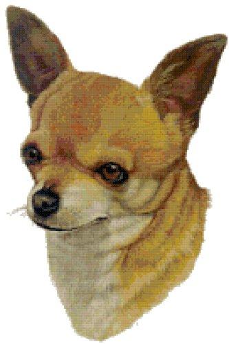 (Chihuahua Dog Portrait Counted Cross Stitch Pattern)