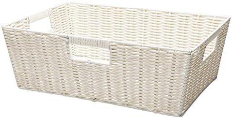 BZM-ZM リビングルーム/キッチン/Officeのボックスを仕上げデスクトップストレージバスケットPVC手織り、