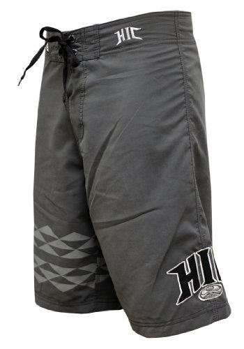 HIC Koa Peached Microsuede Boardshorts in Charcoal - (Koa Board)