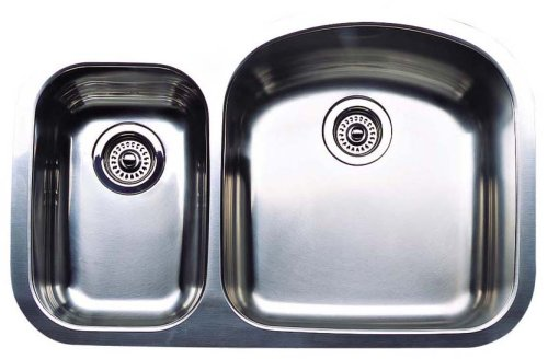 (Blanco 511-750R Wave Plus 1-1/2 Plus Reverse Bowl Kitchen Sink, Satin Polished Finish)