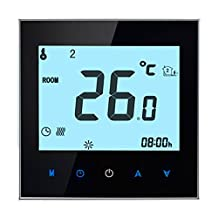 Thermostat WIFI Smart,BECA Control LCD Touch Screen 16A Electric Heating Programmable Room Thermostat (16A for Electric Heating(MODBUS RTU), Black)