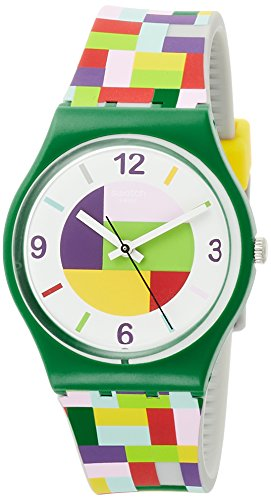 Swatch Tet-Wrist GG224 Green Silicone Swiss Quartz Fashion - Men Swatch For