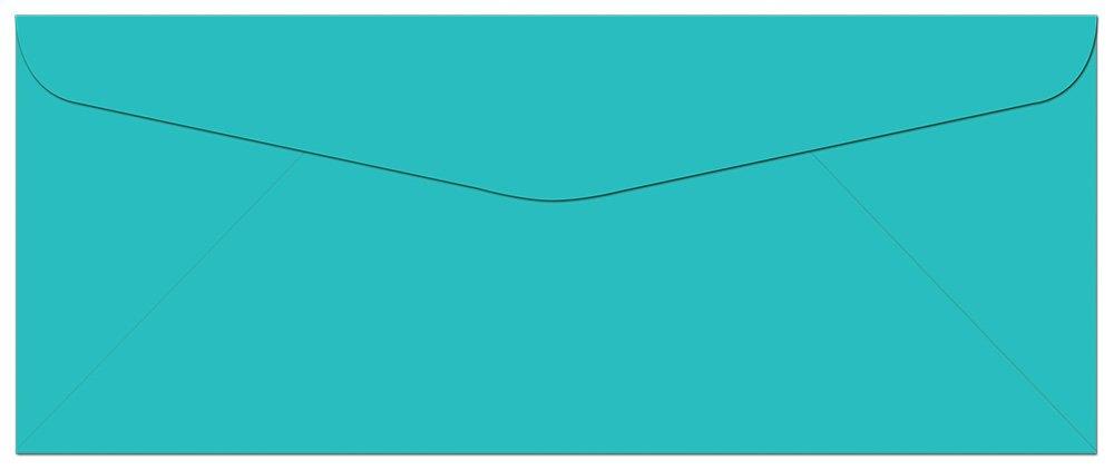 100 Aqua Blue Ocean #10 Envelopes - 9.5'' x 4.125'' - Standard Flap